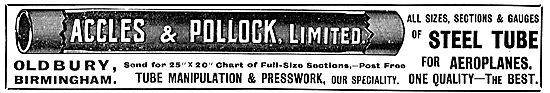 Accles & Pollock Aeroplane Tubes & Presswork