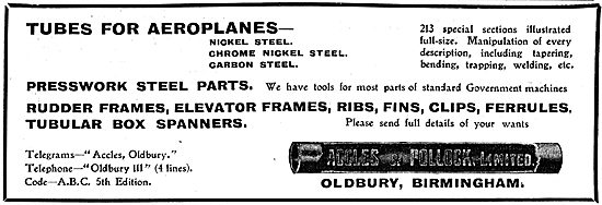 Accles & Pollock Tubes For Aeroplanes