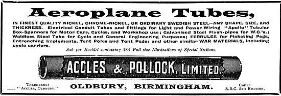 Accles & Pollock Aeroplane Tubes