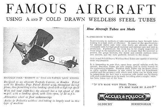 Accles & Pollock: Famous Aircraft Series Handley Page Harrow