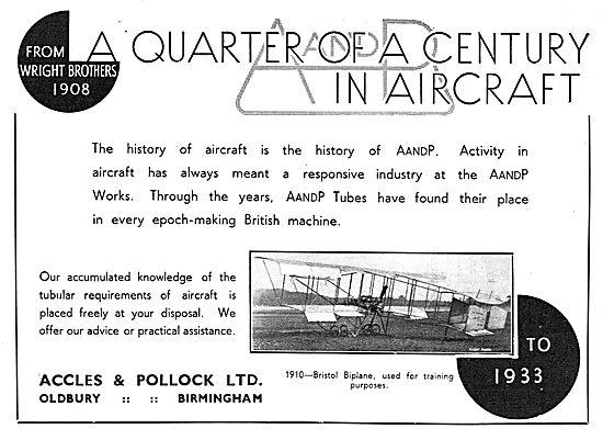 Accles & Pollock 25 Years Bristol Biplane