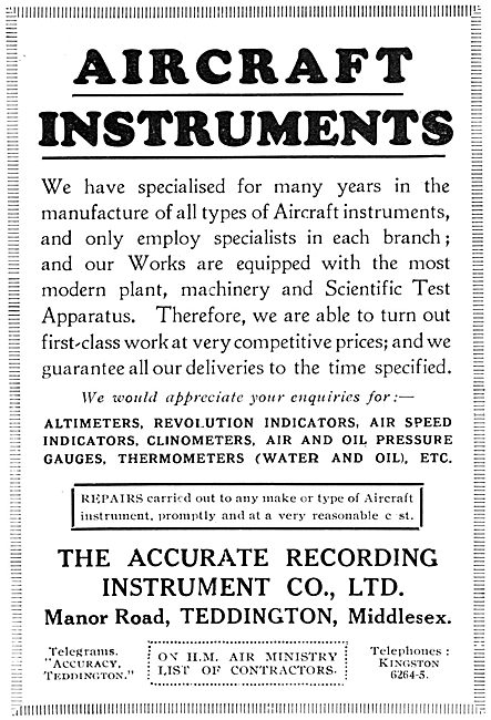 Accurate Aircraft Instruments