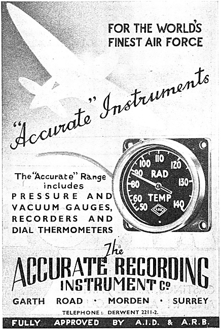 Accurate Recording Instruments - Radiator Temperature Gauges