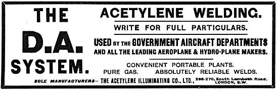 The Acetylene Illuminating Co - Welding Services