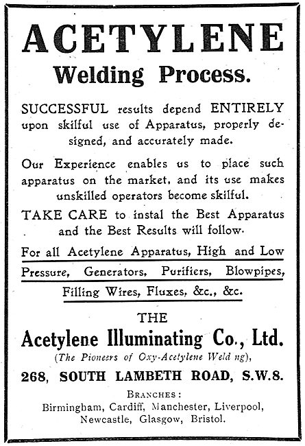 The Acetylene Illuminating Co - Welding Services