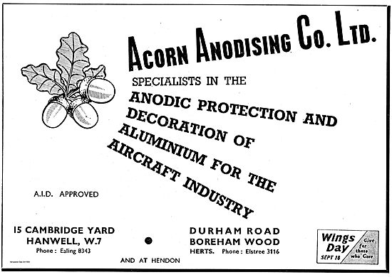 Acorn Anodising. Anodic Protection For The Aviation Industry