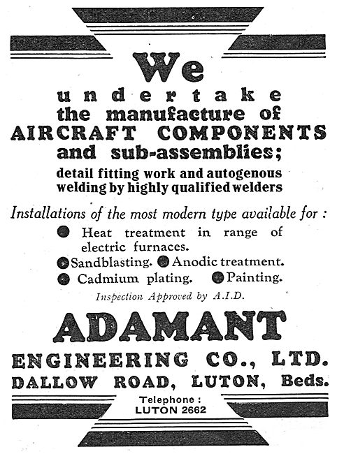 Adamant Engineering - Manufacturers Of Aircraft Components