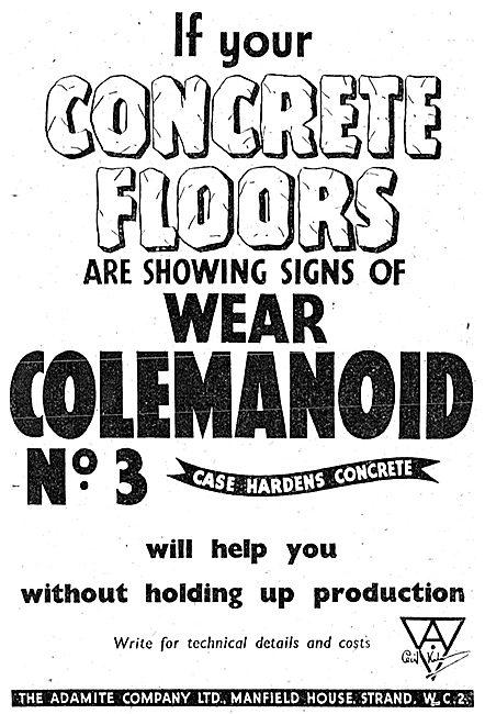 Adamite Colemanoid Concrete Factory Floors. 1943