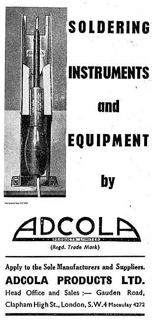 Adcola Soldering Instruments For The Aviation Industry