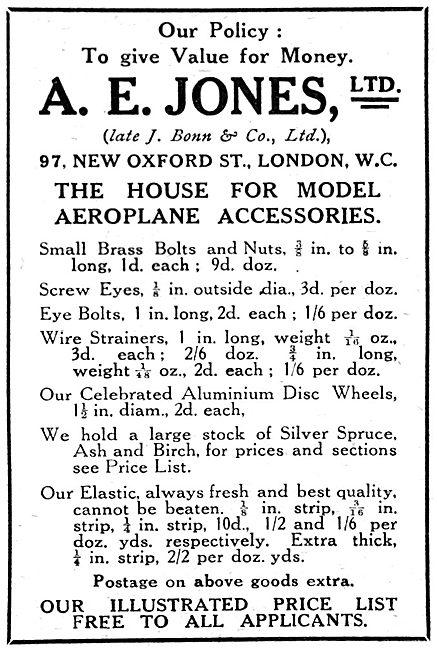 A.E.Jones - Model Aircraft Supplies & Accessories