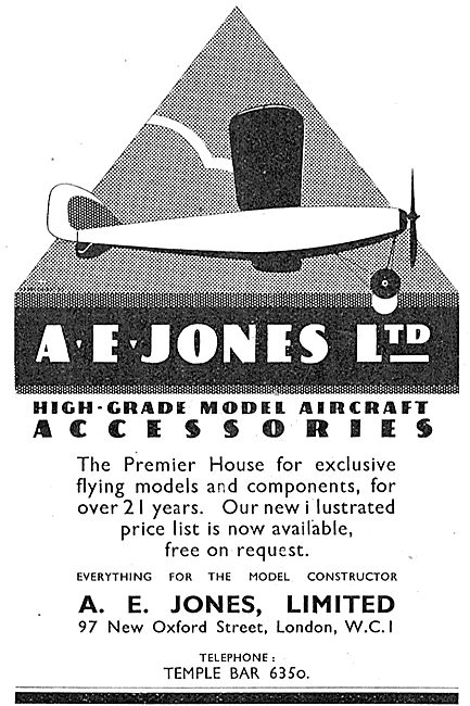 A E Jones Ltd - High Grade Model Aircraft Accessories