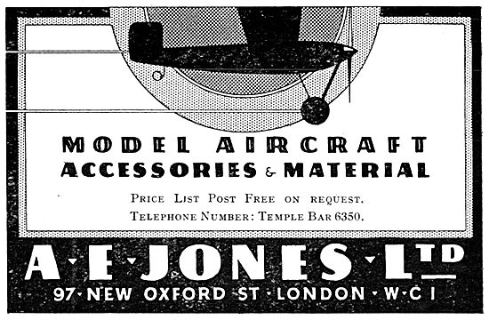 A.E.Jones - Model Aircraft Supplies & Accessories