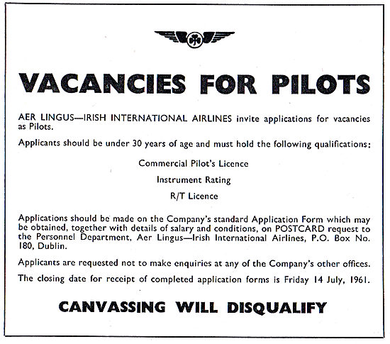 Aer Lingus - Vacancies For Pilots