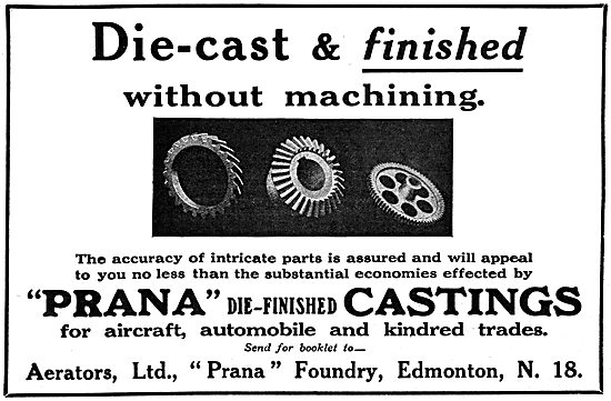 Aerators - Prana Die-Finished Castings