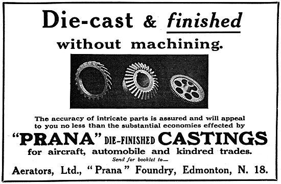 Aerators - Prana Die-Finished Castings