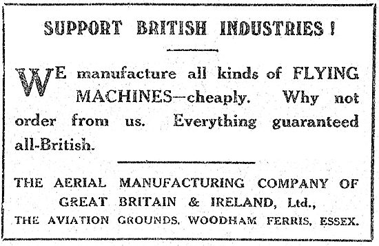 Support British Industries! The Aerial Manufacturing Company