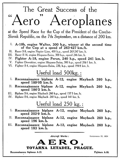AERO Aircraft - Prague