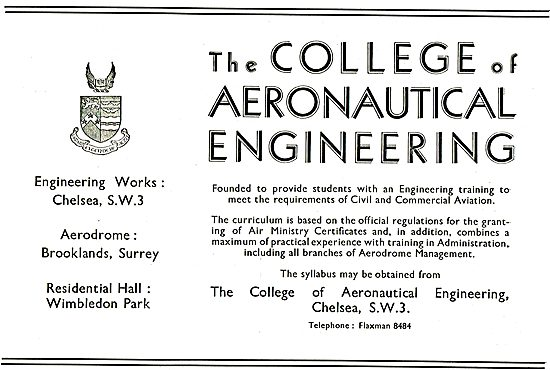 The College Of Aeronautical Engineering