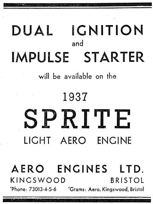 Aero Engines - Sprite Light Aircraft Engine.