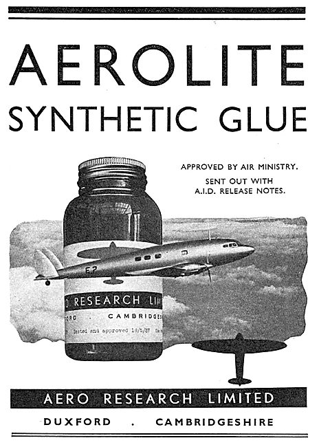 Aero Research Aerolite Synthetic Glues For Aircraft