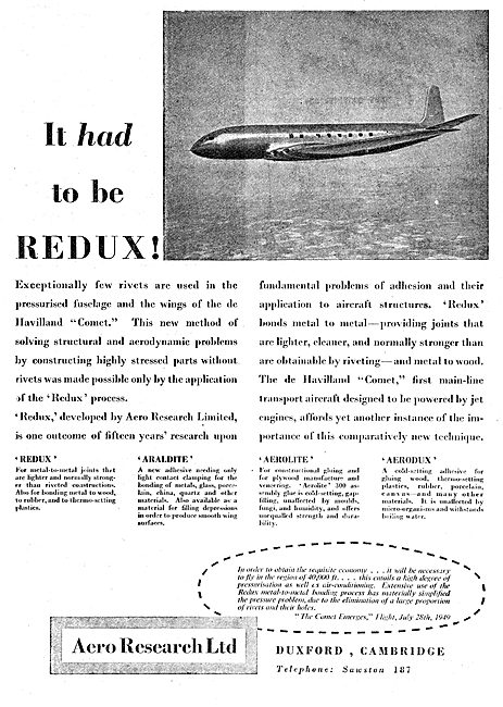 Aero Research REDUX Bonding 1949