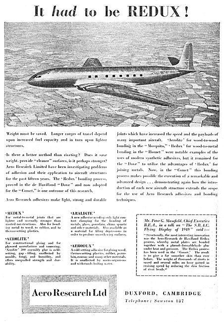 Aero Research REDUX Bonding