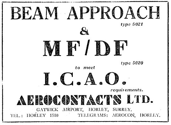 Aerocontacts Gatwick : Beam Approcah Type 5024 - MF/DF 5020