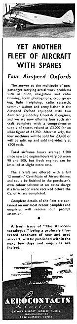 Aerocontacts Gatwick : Aircraft Sales, Spares & Services