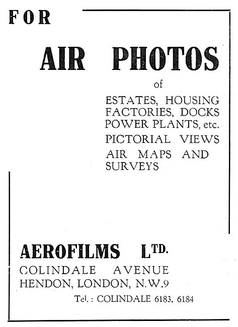 Aerofilms - Aerial Photography & Surveys 1929
