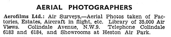 Aerofilms - Aerial Photography & Surveys 1931