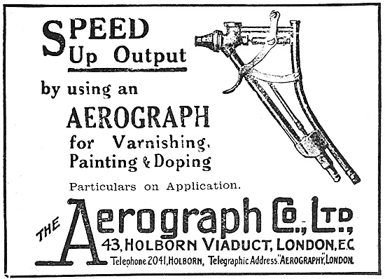 Aerograph Spray Painting Equipment 1918