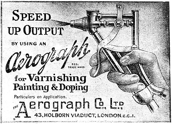 Aerograph Paint & Dope Spraying Equipment - 1919