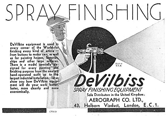 Aerograph DeVilbiss Spray Finishing Equipment