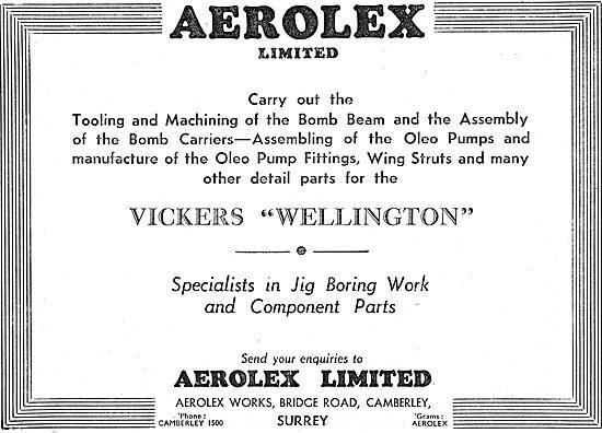 Aerolex Ltd . Camberley.  Aircraft Tooling & Machining