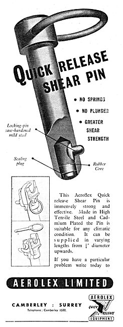 Aerolex Quick Release Shear Pins