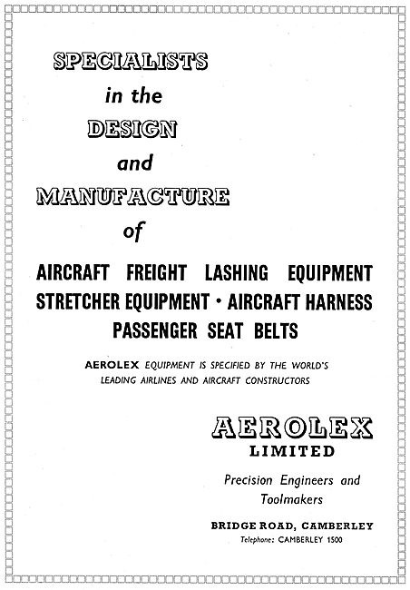 Aerolex Harnesses & Freight Lashing Equipment