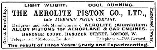 Aerolite  Aero Engine Pistons