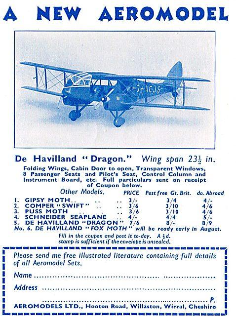 Aeromodels: 1/24th Scale De Havilland Dragon