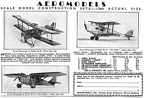 Aeromodels: 1/24th Scale SE5a