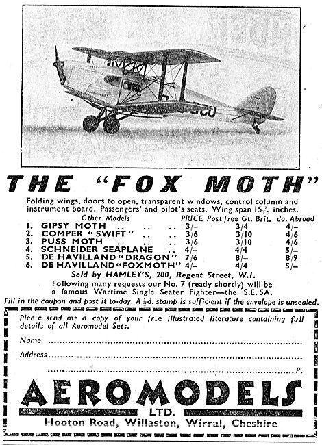 Aeromodels: 1/24th Scale Fox Moth