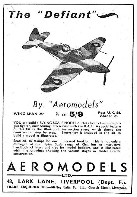 Aeromodels Flying Scale Model Aircraft - Boutlon Paul Defiant