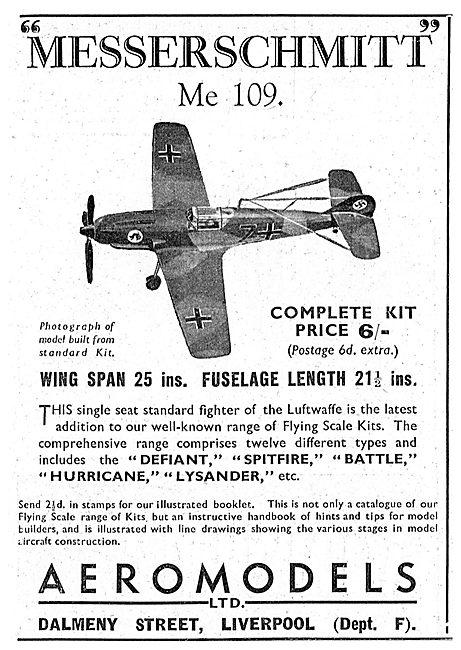 Aeromodels Flying Scale Model Aircraft - Messerschmitt Me 109