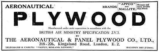 Aeronautical & Panel Plywood. APPCO MALLITE