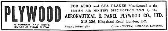 Aeronautical and Panel Plywood For Aero & Sea Planes