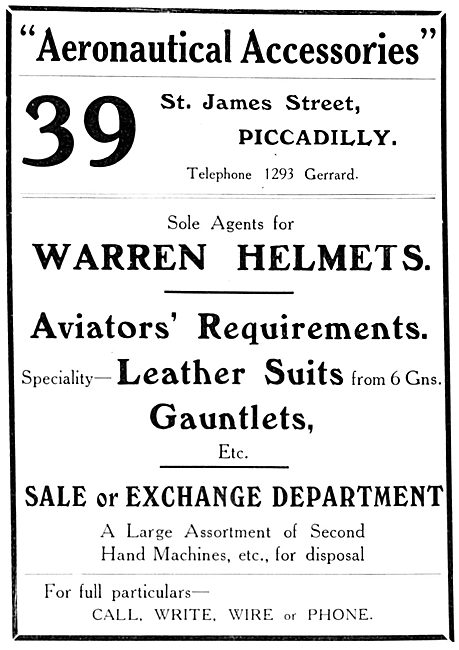 Aeronautical Accessories - Flying Clothing & Aircraft Parts