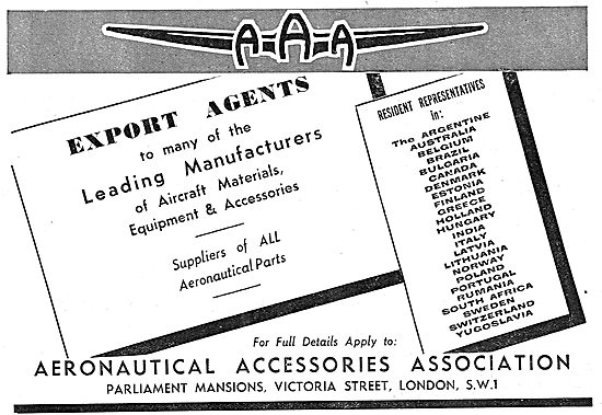Aeronautical Accessories Association  Suppliers Of Aircraft Parts