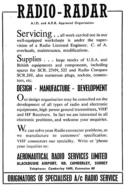 Aeronautical Radio Services - Radio Design & Developement