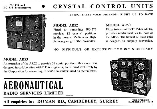 Aeronautical Radio Services Models AR52 AR50