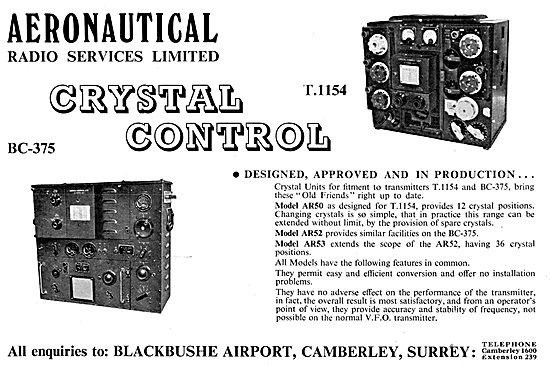 Aeronautical Radio Services ARS T.1154 & BC-375 Radio