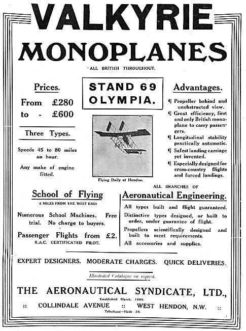 The Aeronautical Syndicate - All British Valkyrie Flying Machines